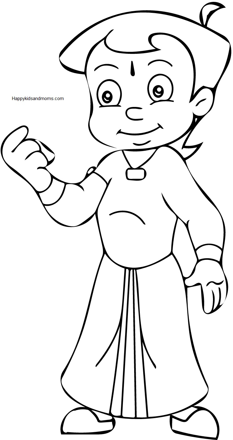 chhota bheem coloring pages - photo#8