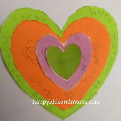 Simple Mothers Day Craft for kids